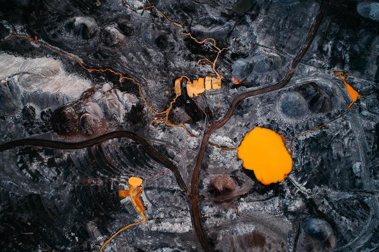 Mérgező víz egy szénbányában / Fotó: Northfoto