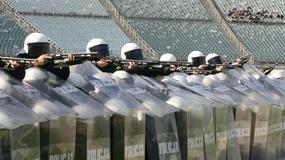 Policja ćwiczy na stadionie