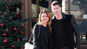 Robert i Anna Lewandowscy na świątecznej imprezie Bayernu