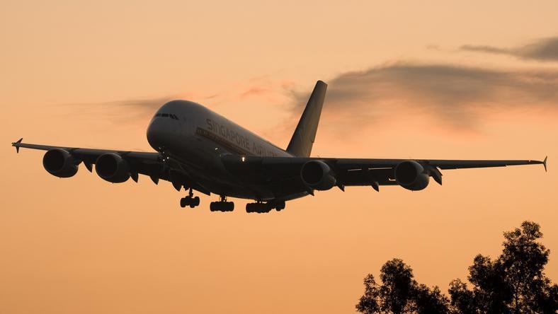 Több, mint 17 órát volt folyamatosan a levegőben az Airbus A380-as. /Fotó: Northfoto