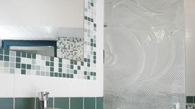 Zielona mozaika w łazience
