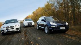 BMW X6 kontra Mercedes ML i Porsche Cayenne - Suv-y czy gti?