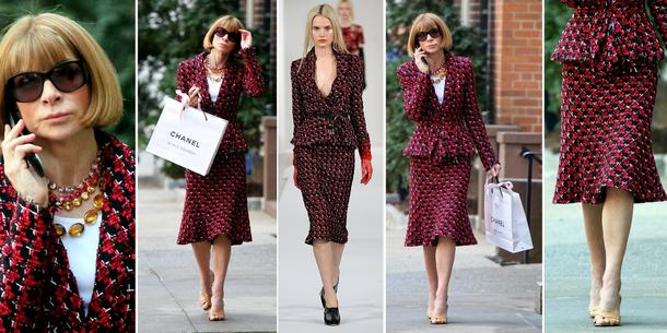 Best Look: Anna Wintour w kostiumie Oscara de la Renty