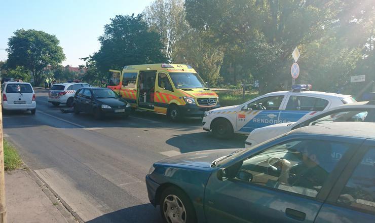 A két jármű tisztázatlan okokból ütközött össze /Fotó: Blikk