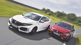 Honda Civic Type R kontra Seat Leon Cupra - 620 KM na torze