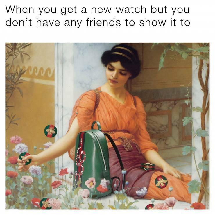 Kampania zegarków Gucci stworzona z memów