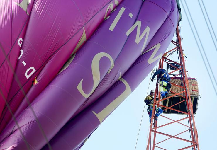 Hat sérültje van annak a németországi hőlégballon balesetnek /Fotó: Northfoto
