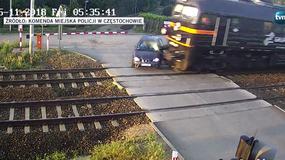 Seat ominął rogatki i został zmiażdżony przez pociąg