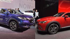 Mazda CX-3 czy Honda HR-V - Pierwsze porównanie nowych japońskich crossoverów