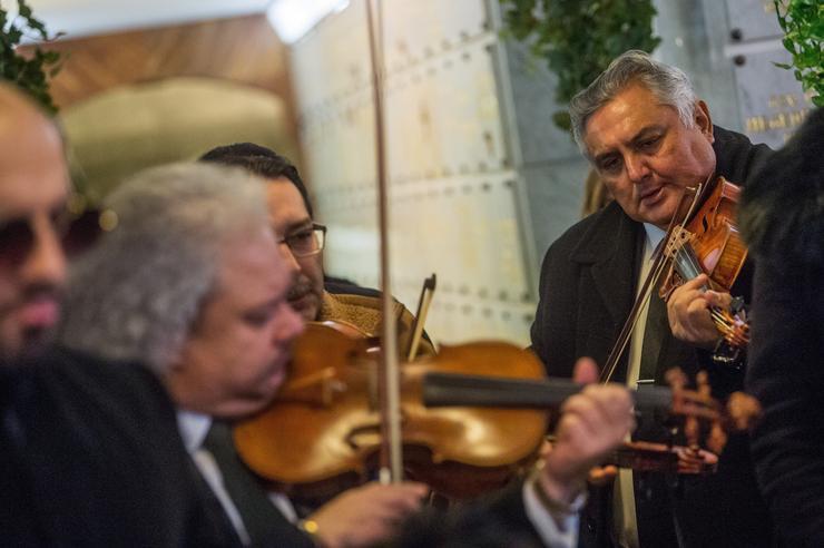 Végső búcsút vettek Ökrös Oszkár cimbalomművésztől - Fotó: MTI Balogh Zoltán