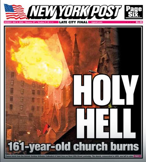 Naslovna strana Njujork Posta za ponedeljak 2. maj