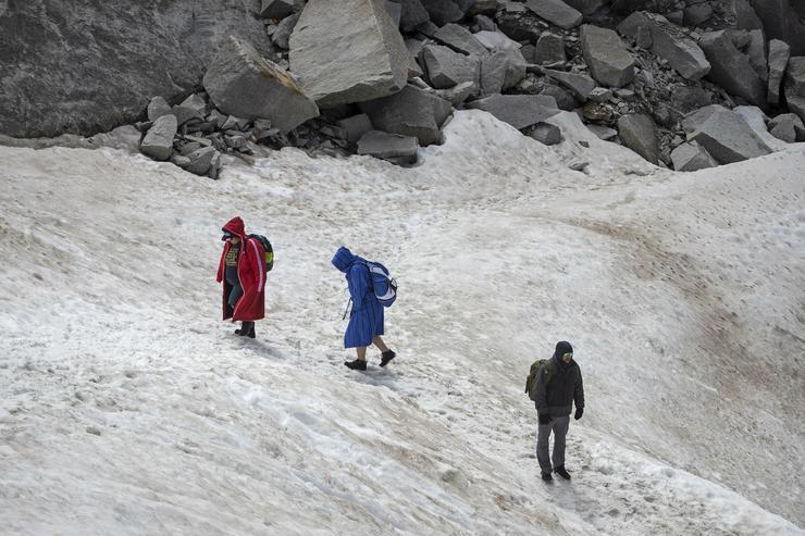 Gleccserbarlang Ausztriában - Fotó: MTI/EPA/Christian Bruna
