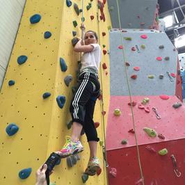 Paulina Sykut na ściance wspinaczkowej