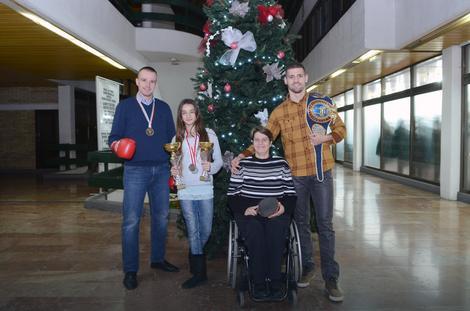 Novosadski prvaci sveta: Goran Bajšanski,  Elena Pejić, Borislava Perić Ranković i Nenad Pagonis