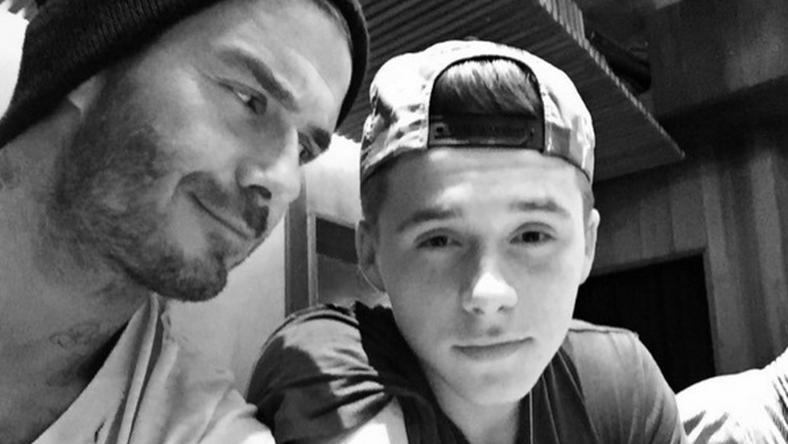 David Beckhamet (balra) ugratónak használta Brooklyn/Fotó: Instagram