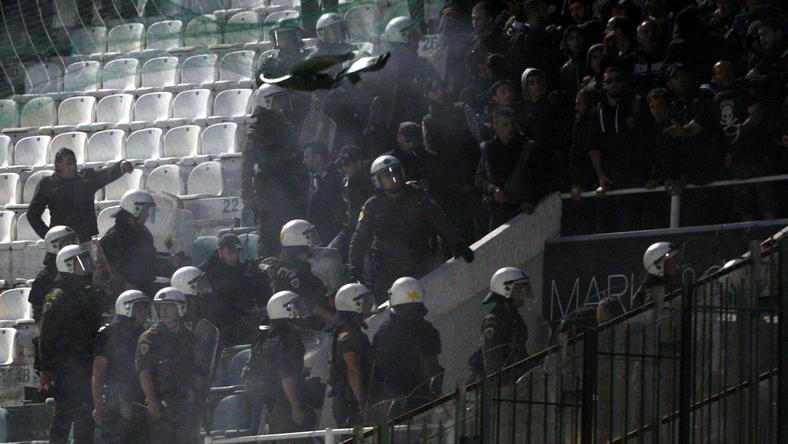 Nagy balhé volt a PAOK otthonában / Fotó: AFP
