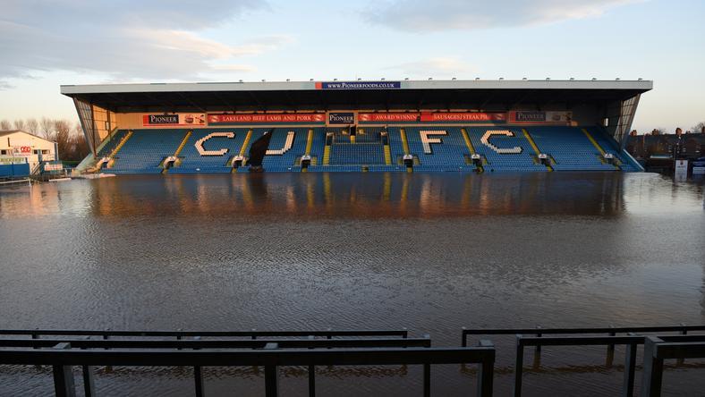 Így nézett ki a Carlisle otthona az árvíz idején / Fotó: AFP