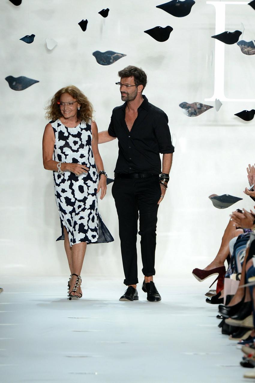 Yvan Mispelaere wraz z Diane von Furstenberg