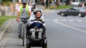 """""""Wózkiem przez Polskę"""". 23-latek pokonał trasę 900 km"""