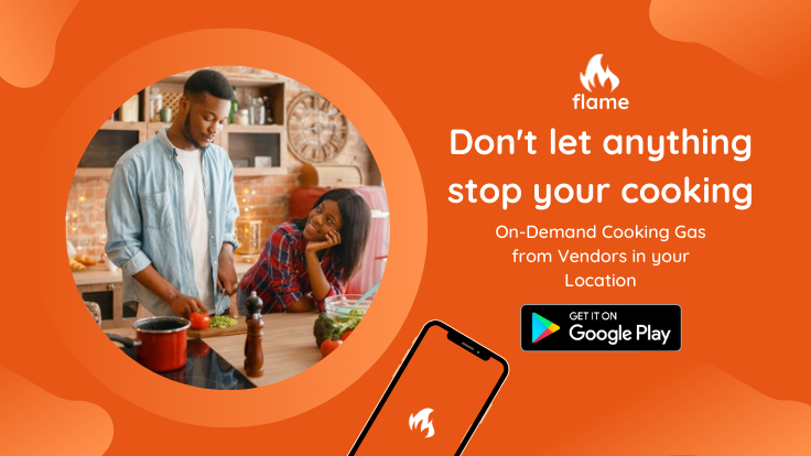 Buy or sell cooking gas on-demand via your mobile phone on Flame