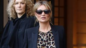 Kate Moss w stylizacji w cętki. Nie wypadła idealnie...