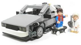 Filmowy DeLorean z klocków LEGO