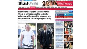 "James Blond! Daniel Craig na planie filmu ""Logan Lucky"""