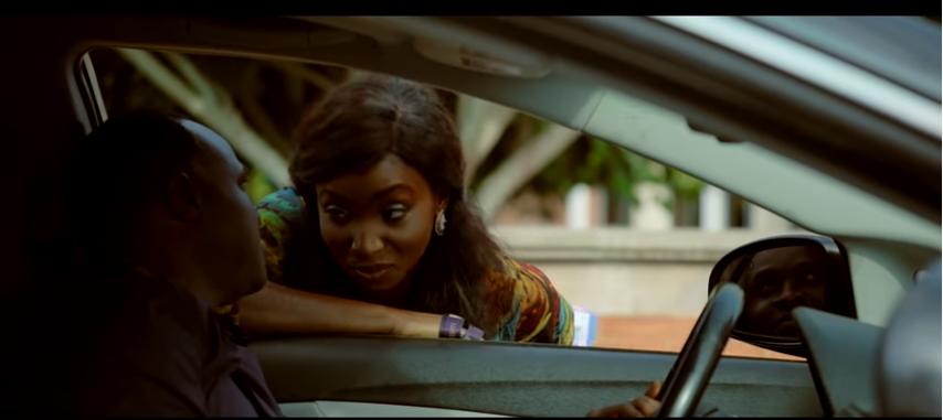 Femi Adebayo and Omowunmi Dada in the movie, 'Diaond in the sky' [YouTube]