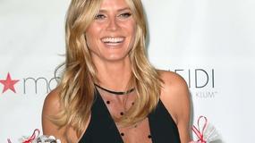 Heidi Klum w obłędnej sukience na promocji swojej bielizny