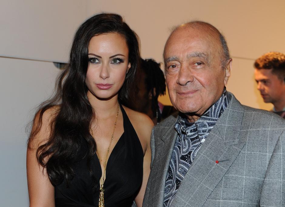 Camilla Al-Fayed z ojcem - Mohamedem Al-Fayed/ fot. Bulls Press