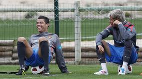 C. Ronaldo w dobrym humorze na zgrupowaniu kadry