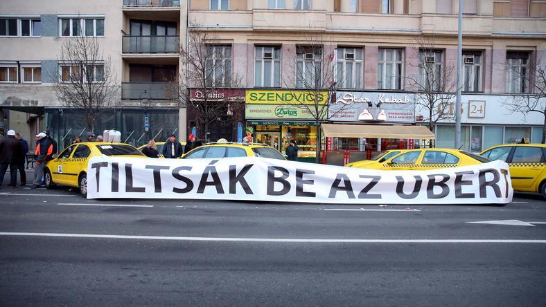 A taxisok nem rég az Uber betiltását követelték / Fotó: Pozsonyi Zita