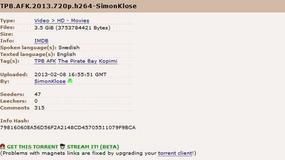 The Pirate Bay umożliwia streamowanie torrentów