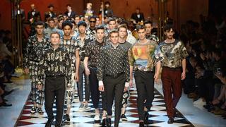 Syn Juda Law na wybiegu u Dolce & Gabbana