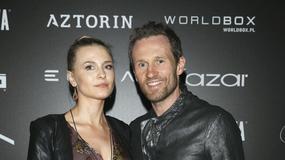 Mariusz Czerkawski z żoną na pokazie Roberta Kupisza