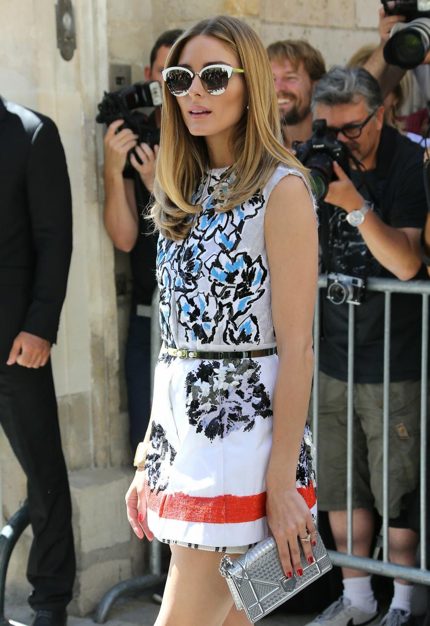 Olivia palermo w kamizelce Dior