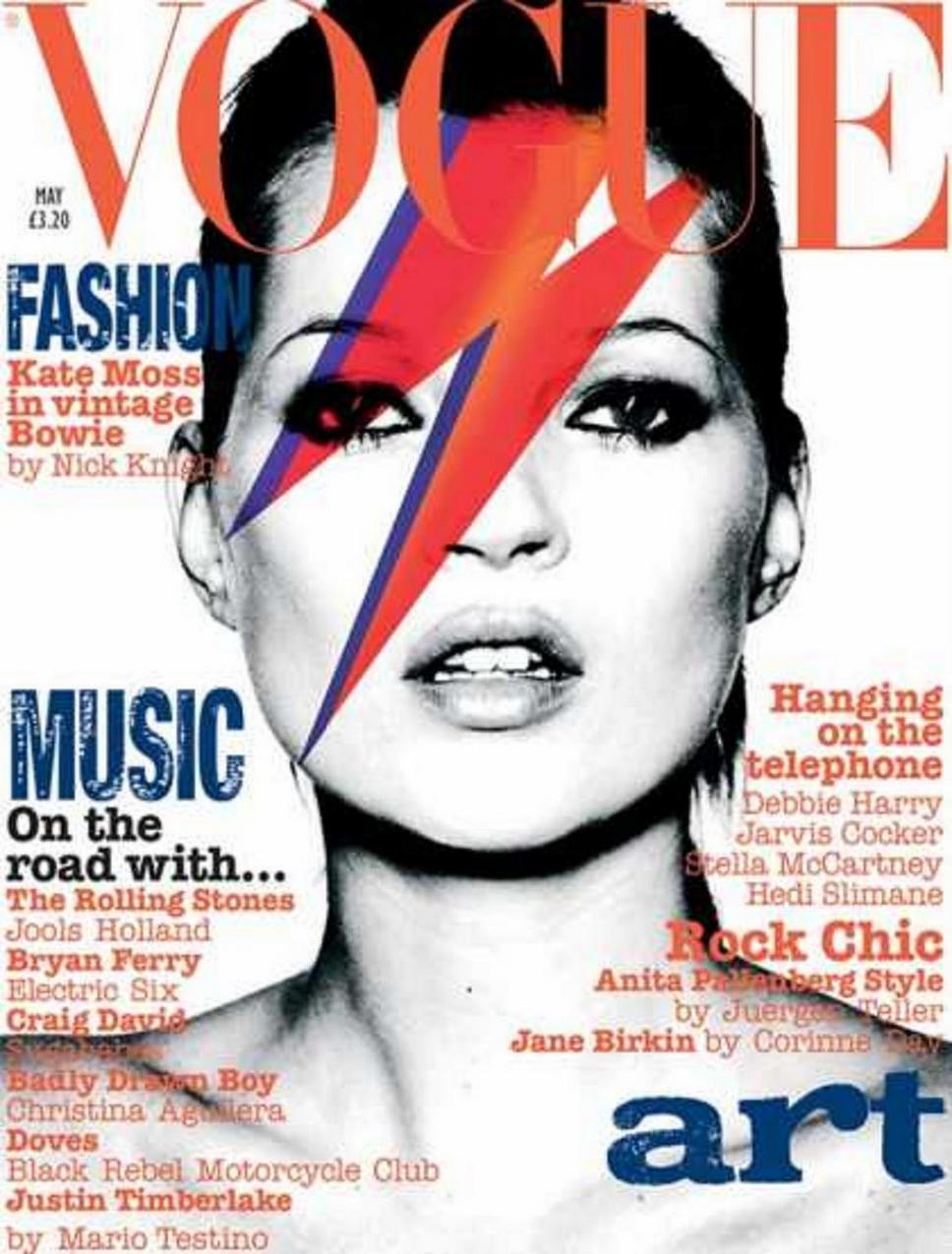Kate Moss jako David Bowie na okładce Vogue'a