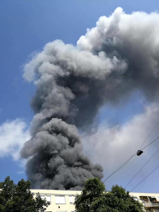 Tűz a 13. kerületben / Fotó: Blikk