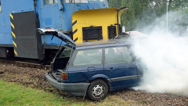 A vonat és az autó Sáránd belterületén ütközött /Fotó: Northfoto - illusztráció