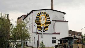 Nietypowy mural w Gdańsku. Wicepremier Piotr Gliński przedstawiony jako faraon