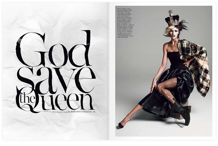 Anja Rubik / Vogue / fot. Inez & Vinoodh