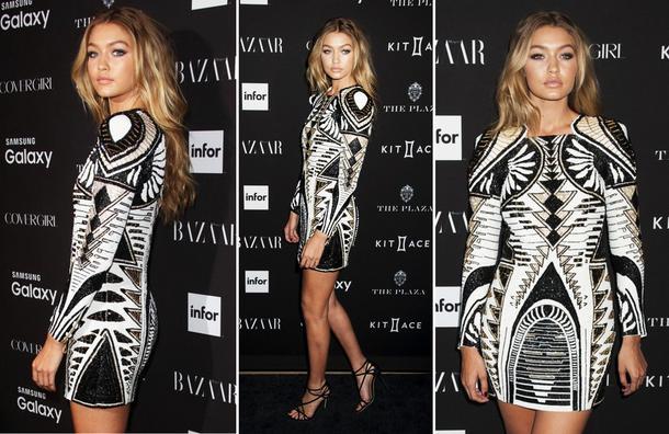 Best Look: Gigi Hadid w sukience Balmain x H&M