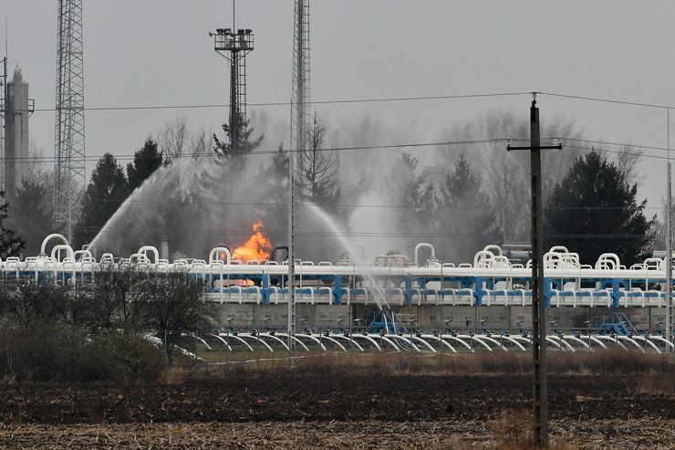 Belobbant a gáz a nagyhegyesi gáztározóban / Fotó: Czeglédi Zsolt