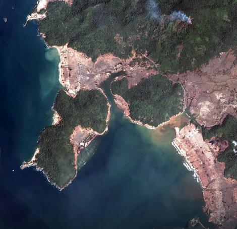 Deo Sumatre koji je opustošen nakon zemljotresa iz 2004. godine