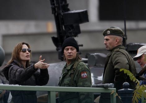 Andželina na snimanju u Budimpešti