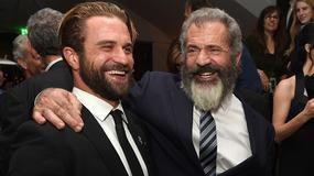 """""""Przełęcz ocalonych"""": Mel Gibson z synem na premierze filmu"""