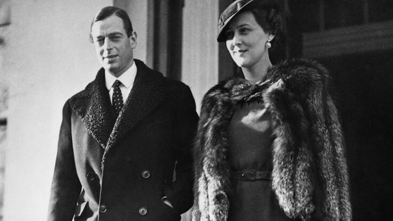 Jerzy i jego żona Marina, księżniczka grecka