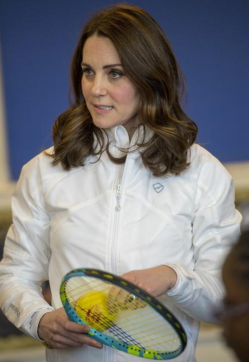 Sportos szerelésben Katalin hercegné. Fotó: Puzzlepix