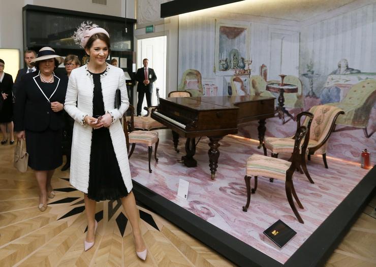 WARSZAWA KSIĘŻNA DANII WIZYTA MUZEUM CHOPINA (Anna Komorowska księżna Maria Elżbieta)