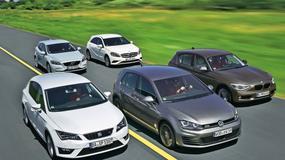 BMW serii 1 kontra Mercedes klasy A, Leon, Golf i V40: porównanie trzech szybkich kompaktowych turbodiesli